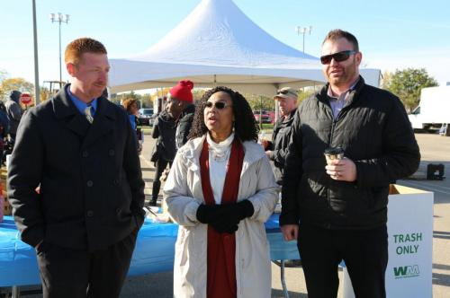 Northland Property Manager Gaven Kinf, Councilwoman Linnie Taylor, Jeremy McCallion (AKT Peerless)